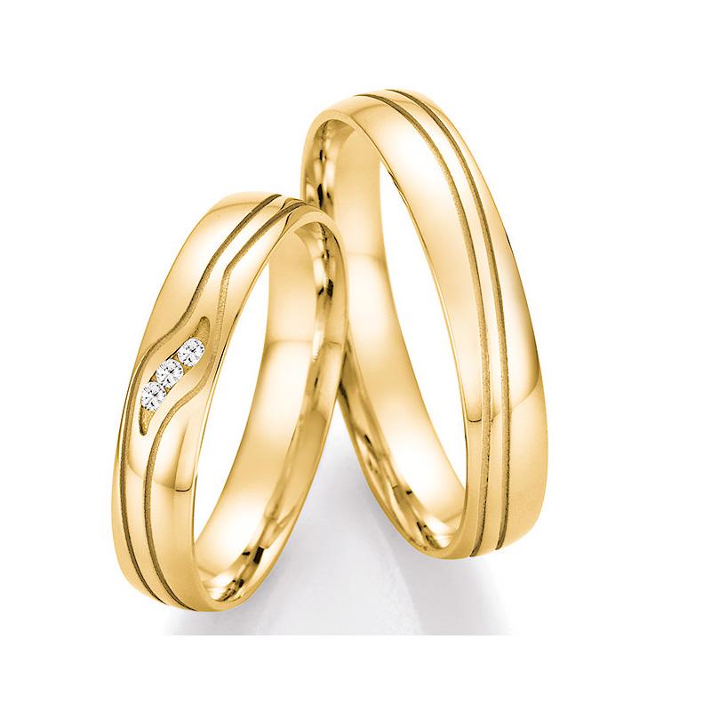 romantische eheringe aus gelbgold mit diamanten online kaufen. Black Bedroom Furniture Sets. Home Design Ideas