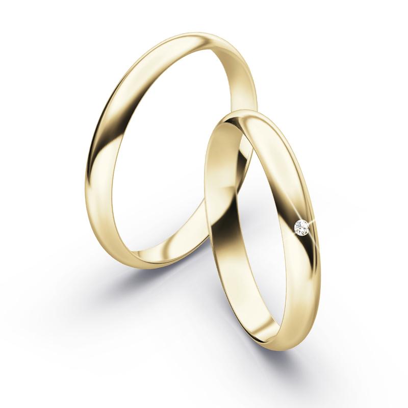 Edel dezente Eheringe aus Gelbgold mit Diamanten | Jetzt