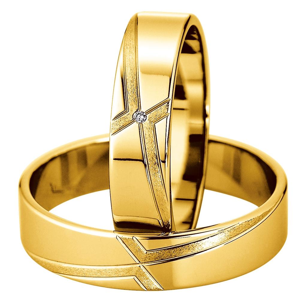 Eheringe Hochzeitsringe Gelbgold Saint Maurice Kollektion