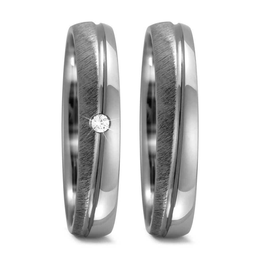 Palladium Partnerringe Eheringe mit Rosegold mit einem oder mehreren  Diamant TitanFactory 59302