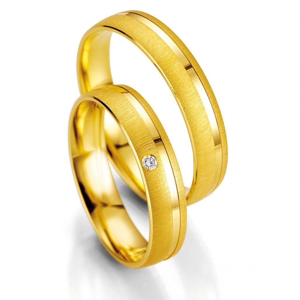 Hochzeitsringe 333 585 750 Günstig Trauringe Eheringe 48-07003 & 48-07004