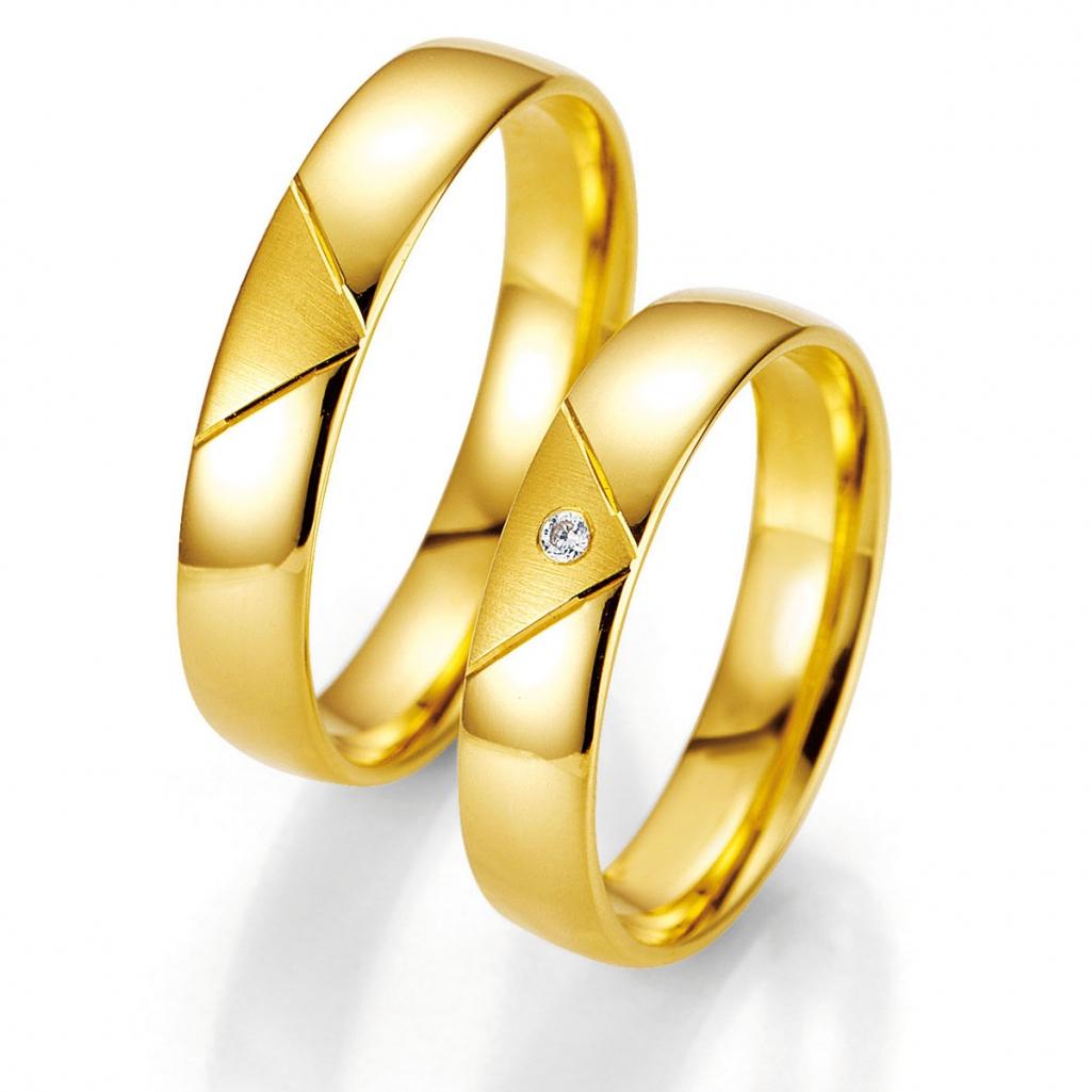 Hochzeitsringe Aus Gelbgold Mit Dreieck Jetzt Bestaunen