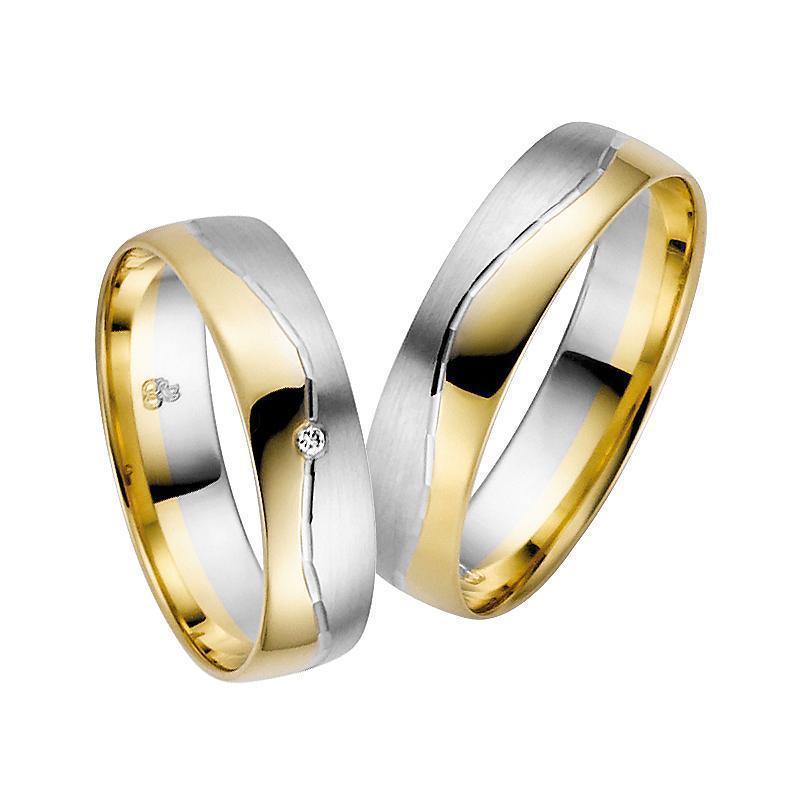 Eheringe Trauringe Günstig Gelb- / Weißgold Diamanten MyTrauring Rauschmayer 03683