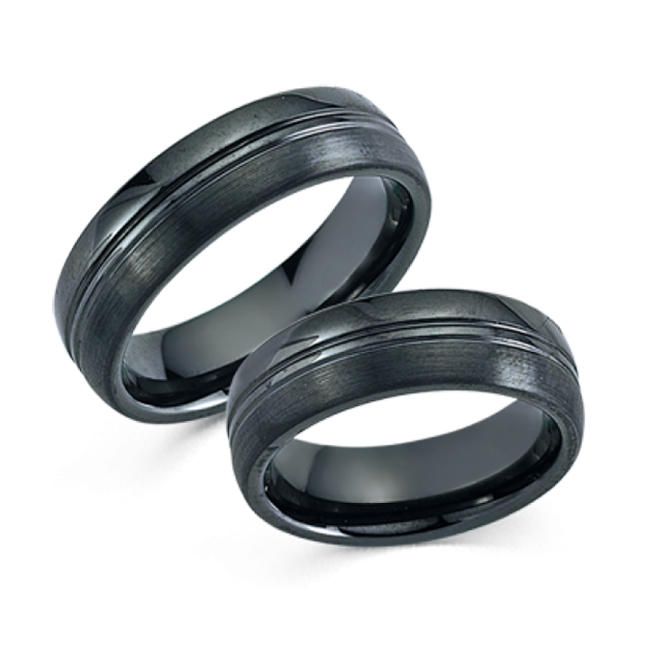 Partnerringe schwarz edelstahl  Keramikringe Partnerringe schwarz Trendline 20016