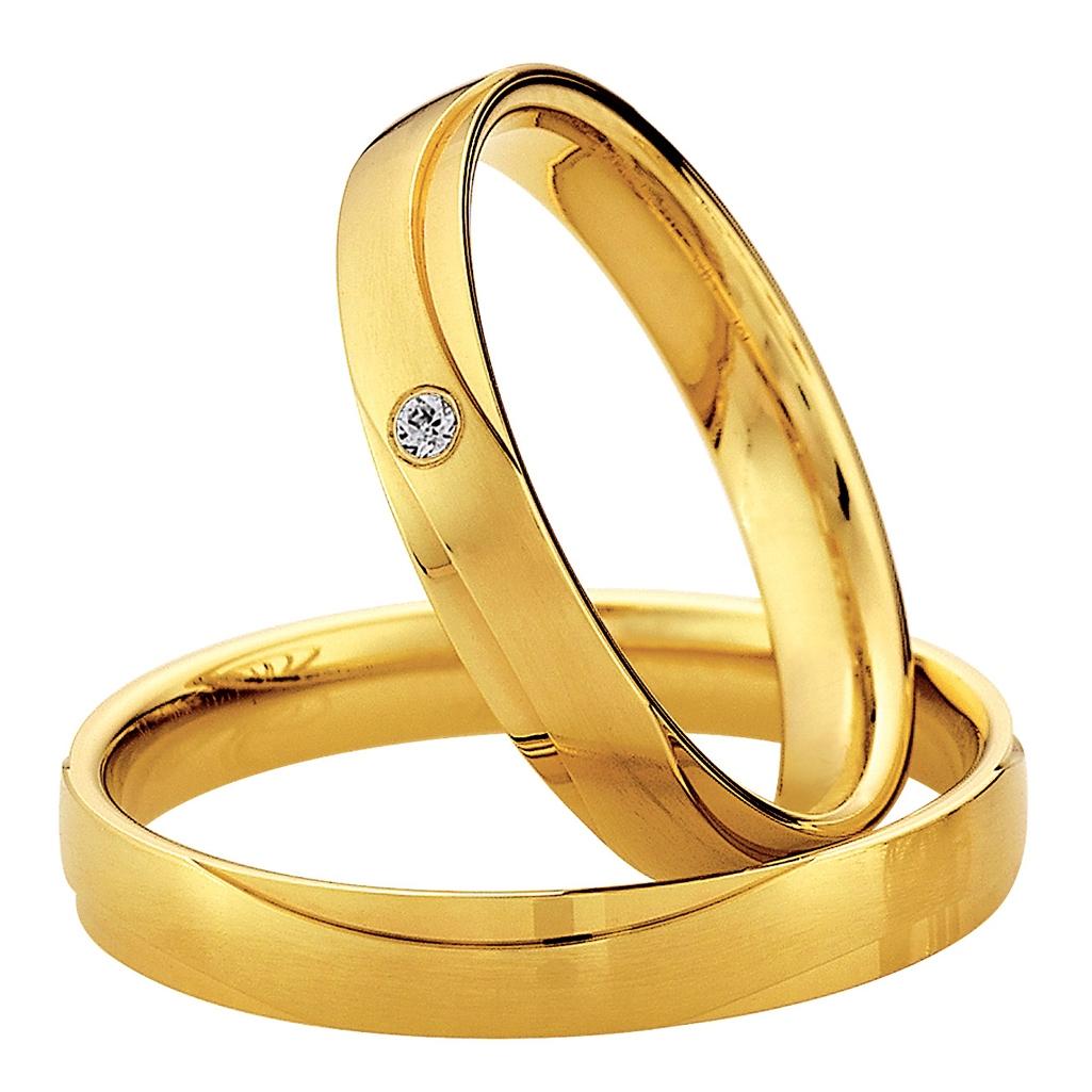 Eheringe Hochzeitsringe trauringe günstigGelbgold Diamant Saint Maurice 49-87020 & 49-87021